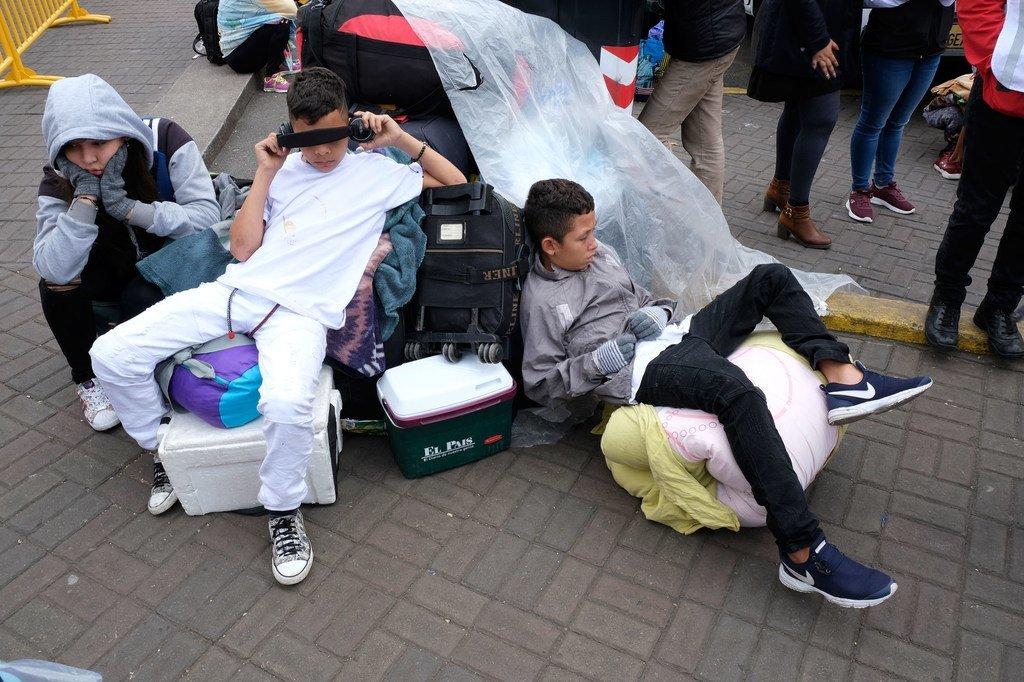 En moyenne, 1 650 réfugiés et migrants du Venezuela continuent d'arriver chaque jour en Équateur. (4 juin 2019)