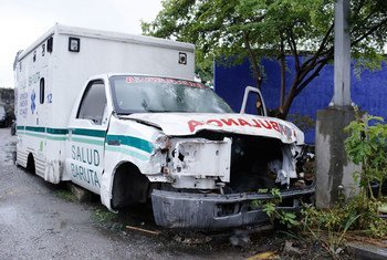 At a health center on the outskirts of Caracas, Venezuela, a lack of spare parts has rendered mobile health units and ambulances unusable.