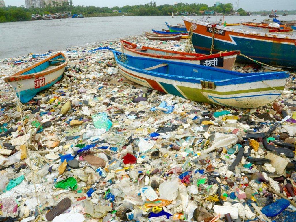 توضح عملية تنظيف الشاطئ في مومباي بالهند، كيف يؤدي الحطام البلاستيكي في المحيط إلى موت ملايين الطيور البحرية كل عام.