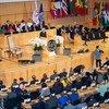 Rais Sergio Mattarela wa Italia akihudumia mkutano wa 108 wa Baraza la shirika la kazi duniani, ILO hii leo Juni 10, 2019 mjini Geneva, Uswisi.