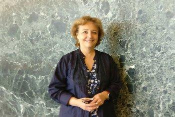 Isasbel Guerrero, miembro del Panel de Alto Nivel Del Secretario General sobre la Cooperación Digital en la sede de la ONU en Nueva York