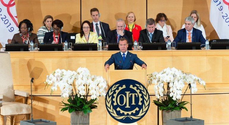 Дмитрий Медведев, Председатель правительства России, выступил на 108-ой Международной конференции труда
