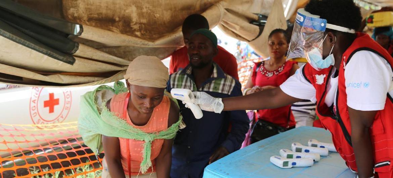 Vigilancia contra el virus del ébola en la frontera entre RD Congo y Uganda.