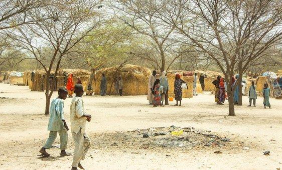 مخيم المسكين في ميدغوري عاصمة ولاية بورنو ويسكن في المخيم 5000 من النازحين داخليا