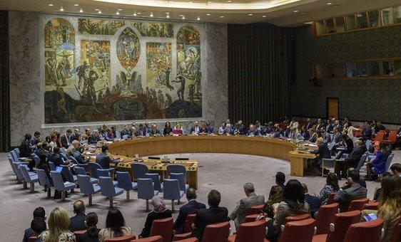 من الأرشيف: جلسة مجلس الأمن حول إطار تعزيز التعاون والشراكة بين المجلس وجامعة الدول العربية.