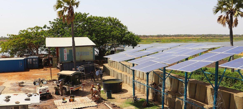 Sistema solar, em Malakal, que permite extrair cerca de meio milhão de litros de água todos os dias