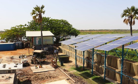 Teams in Malakal have designed a hybrid, solar power system that extracts half a million litres of water per day from the Nile to provide a more sustainable source of water.