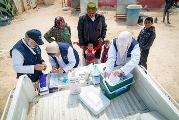 Maintaining a cold chain is vital to the work of mobile health teams like this one in Jordan.