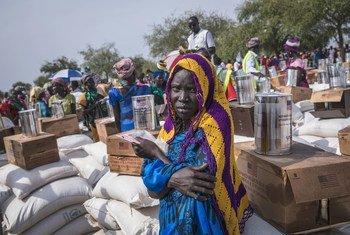 Mgao wa chakula huko Peri nchini Sudan Kusini ambako WFP inasaidia watu 29,000 kati yao 6,600 ni watoto wenye umri wa chini  ya miaka mitano. (Picha  5 Februari 2019)