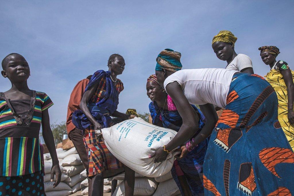 Distribution de nourriture par le PAM à Pieri au Soudan du Sud