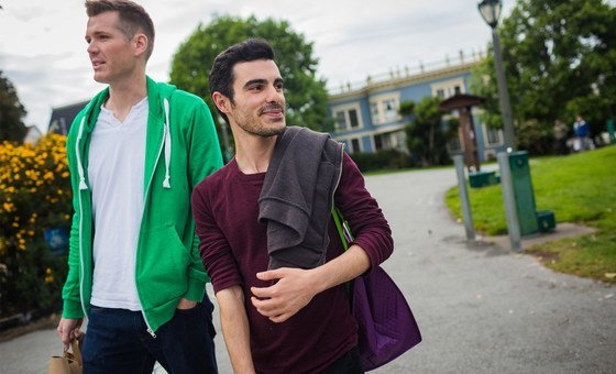 Subhi Nahas, a Syrian LGBTI refugee and his American partner