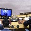 Des délégués au Conseil de sécurité écoute l'exposé de Martin Griffiths, Envoyé spécial du Secrétaire général pour le Yémen, sur la situation dans ce pays.