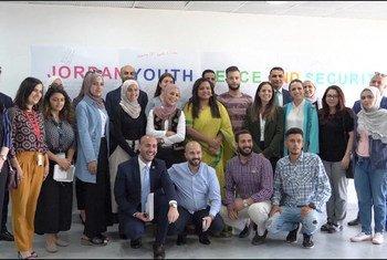 المبعوثة الخاصة للأمين العام المعنية بالشباب، جاياثما ويكرامانياكي، خلال زيارتها للأردن.