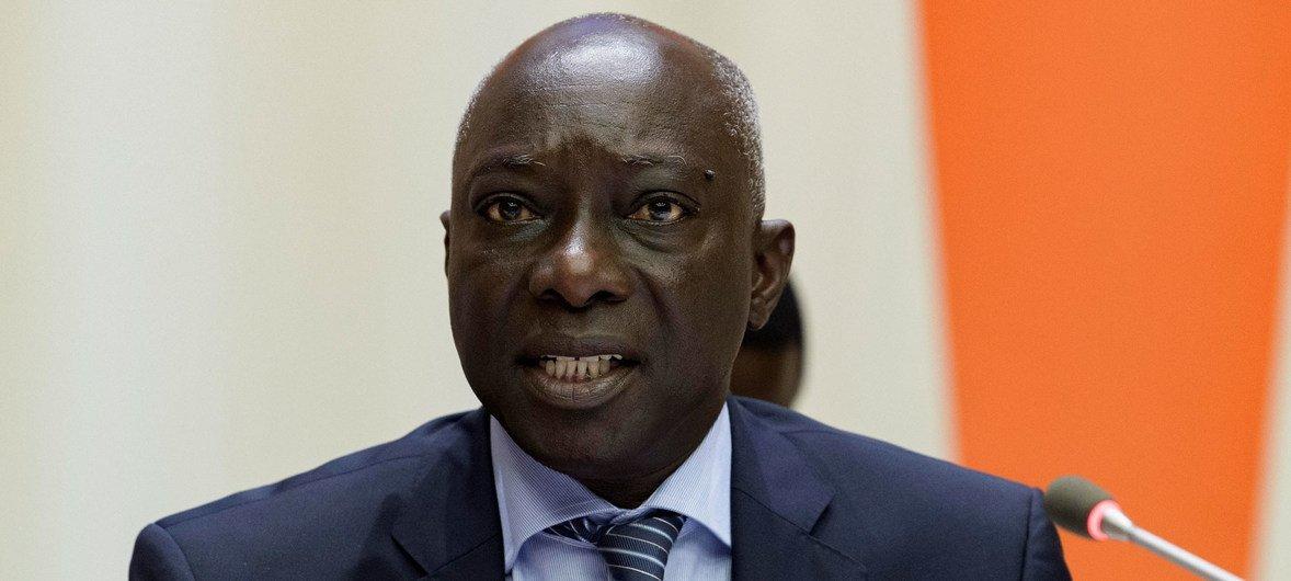 防止灭绝种族罪行问题特别顾问阿达马·迪昂在启动《联合国消除仇恨言论战略和行动计划》发布会上发表讲话。(2019年6月18日)