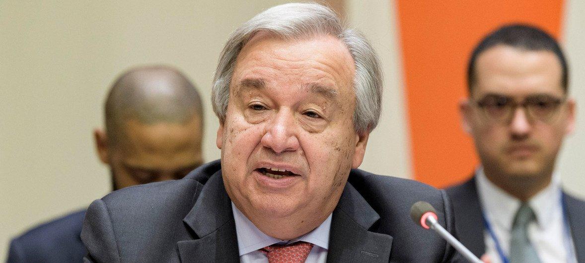 Secretário-geral saudou os países pela adoção do documento esta sexta-feira, em Genebra.