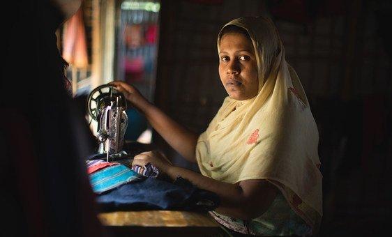 Narun no assentamento de Kutupalong, no Bangladesh. A mulher teve de escapar da violência contra os rohingya em Mianmar