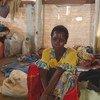 Une femme déplacée dans un camp à Bunia, dans la province de l'Ituri, en République démocratique du Congo, le 17 juin 2019.