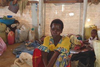 Mkimbizi mpya wa ndani akiwa katika kituo cha kuhifadhi wakimbizi cha mji wa Bunia kwenye jimbo la Ituri nchini Jamhuri ya Kidemokrasia ya Congo, DRC. (17 Juni 2019)