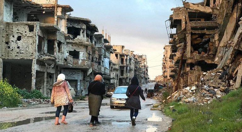 Жители района Хомс в Сирии начинают возвращаться в свои города после затяжного конфликта