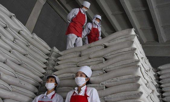 Centro de armazenamento do PMA na Coreia do Norte