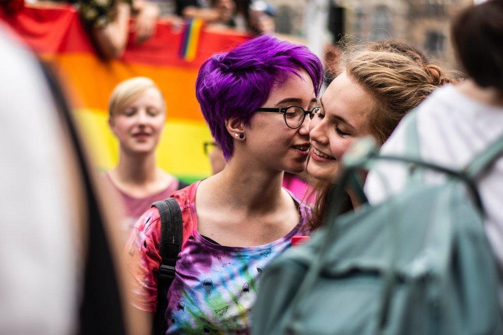 Une manifestation LGBTI à Berlin, la capitale de l'Allemagne