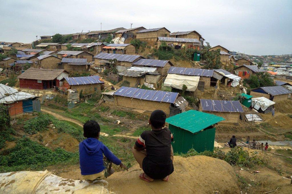 Des Rohingyas dans un camp de réfugiés à Cox's Bazar, au Bangladesh.