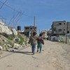 Crianças em Gaza, onde cerca de 1 milhão de refugiados palestinos precisam de assistência.
