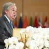 Katibu Mkuu wa UN António Guterres akihutubia mkutano wa 108 wa Baraza la shirika la kazi duniani, ILO mjini Geneva, Uswisi hii leo 21 Juni 2019