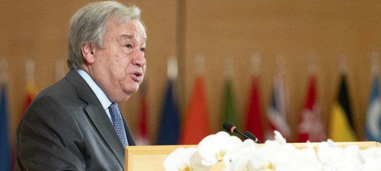 Антониу Гутерриш на 108 сессии МОТ, 21 июня 2019 года