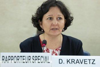 联合国厄立特里亚人权情况特别报告员克拉维茨在人权理事会第四十届会议上发言。