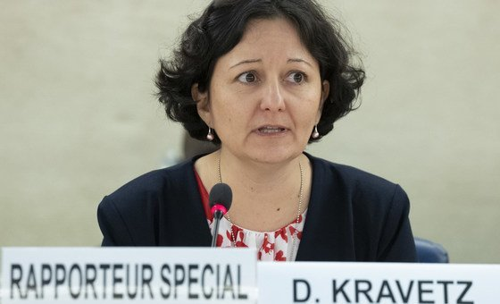 Daniela Kravetz, Special Rapporteur on the situation of human rights in Eritrea, speaks at the 40th Session of the Human Rights Council