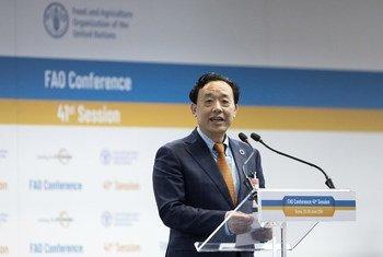 Qu Dongyu agradeceu o que chamou de colaboração frutífera entre a agência e o Japão em África.