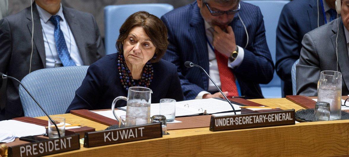 联合国负责政治与和平建设的副秘书长迪卡洛就伊朗核不扩散问题向安理会进行汇报。