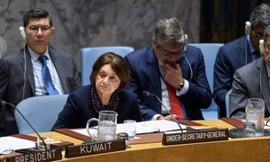 Rosemary DiCarlo, Under-Secretary-General for Political and Peacebuilding Affairs, briefs the Security Council meeting on non-proliferation. (26 June 2019)