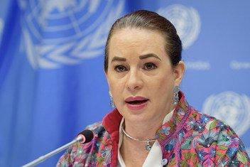 Presidente da Assembleia Geral, María Fernanda Espinosa