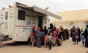 L'OMS soutient des cliniques mobiles et des unités chirurgicales mobiles dans la région d'Idlib en Syrie.