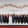 在日本大阪出席二十国集团峰会的世界领导人。