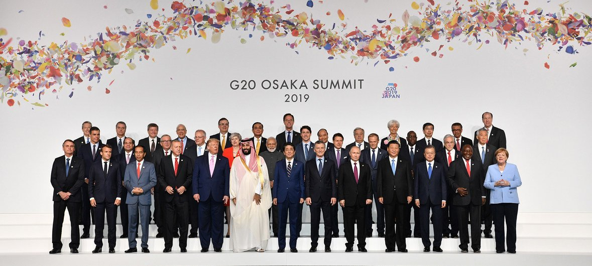 Image result for images of G20 at Osaka in June 2019