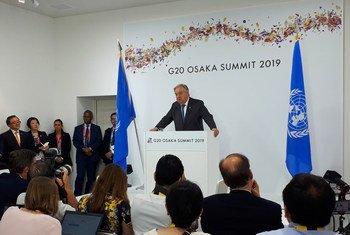 Em Osaka, no Japão, o secretário-geral da ONU, António Guterres, disse que a mudança climática avança mais rápido que as ações para travar o problema.