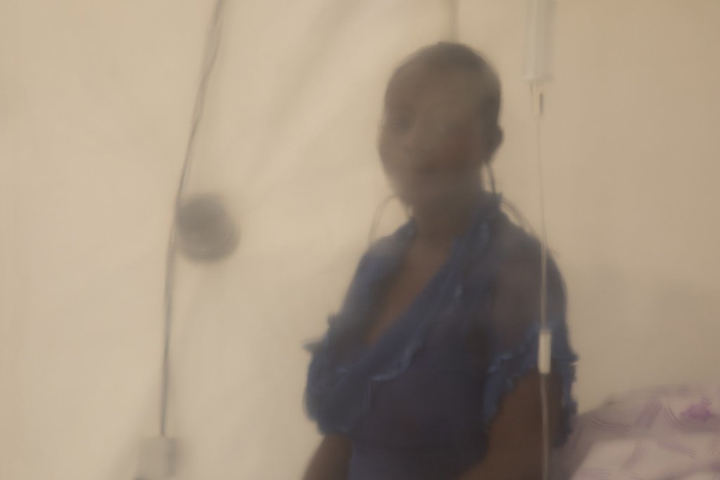 Un patient souffrant d'Ebola dans un centre de traitement à Beni, dans l'Est de la République démocratique du Congo.