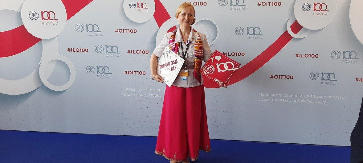 Анжелика Мюллер на 108-й сессии Международной конференции труда