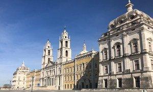 Palácio Nacional de Mafra, em Portugal. País teve aumento de casos de Covid-19 em janeiro