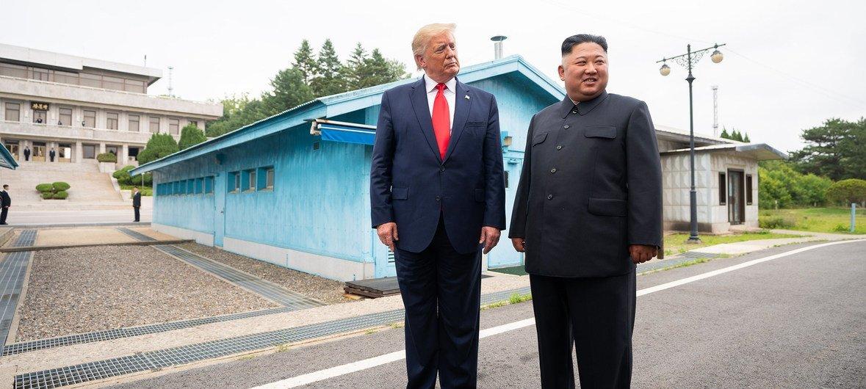 Встреча президента США  и лидера КНДР состоялась 30 июня. Президент США впервые побывал в демилитаризованной зоне