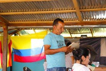 Jornada de capacitación en la Zona de Reincorporación en Carrizal, Colombia.