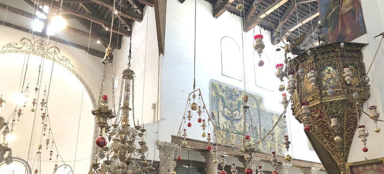 位于巴勒斯坦约旦河西岸的伯利恒主诞堂,被视为耶稣诞生地。