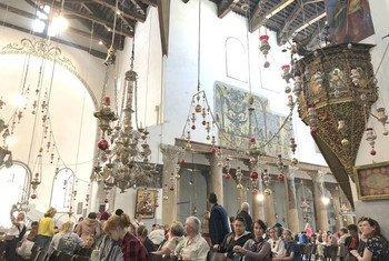 Iglesia de la Natividad en la ciudad palestina de Belén.