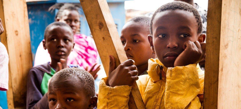肯尼亚首都内罗毕的儿童。