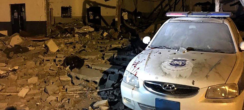 Imagen del devastador bombardeo perpetrado el 2 de julio en el centro de detención de Tajoura, en los suburbios de la capital libia, Trípoli.