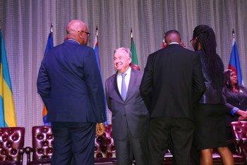El Secretario General António Guterres en Santa Lucía con líderes de CARICOM