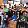 Jóvenes argentinos se encuentra con la María Eugenia Di Paola, coordinadora de Ambiente y Desarrollo Sostenible del PNUD en Argentina y Carlos Gentile, secretario de Cambio Climático y Desarrollo Sustentable de la Secretaría de Ambiente de Argentina.